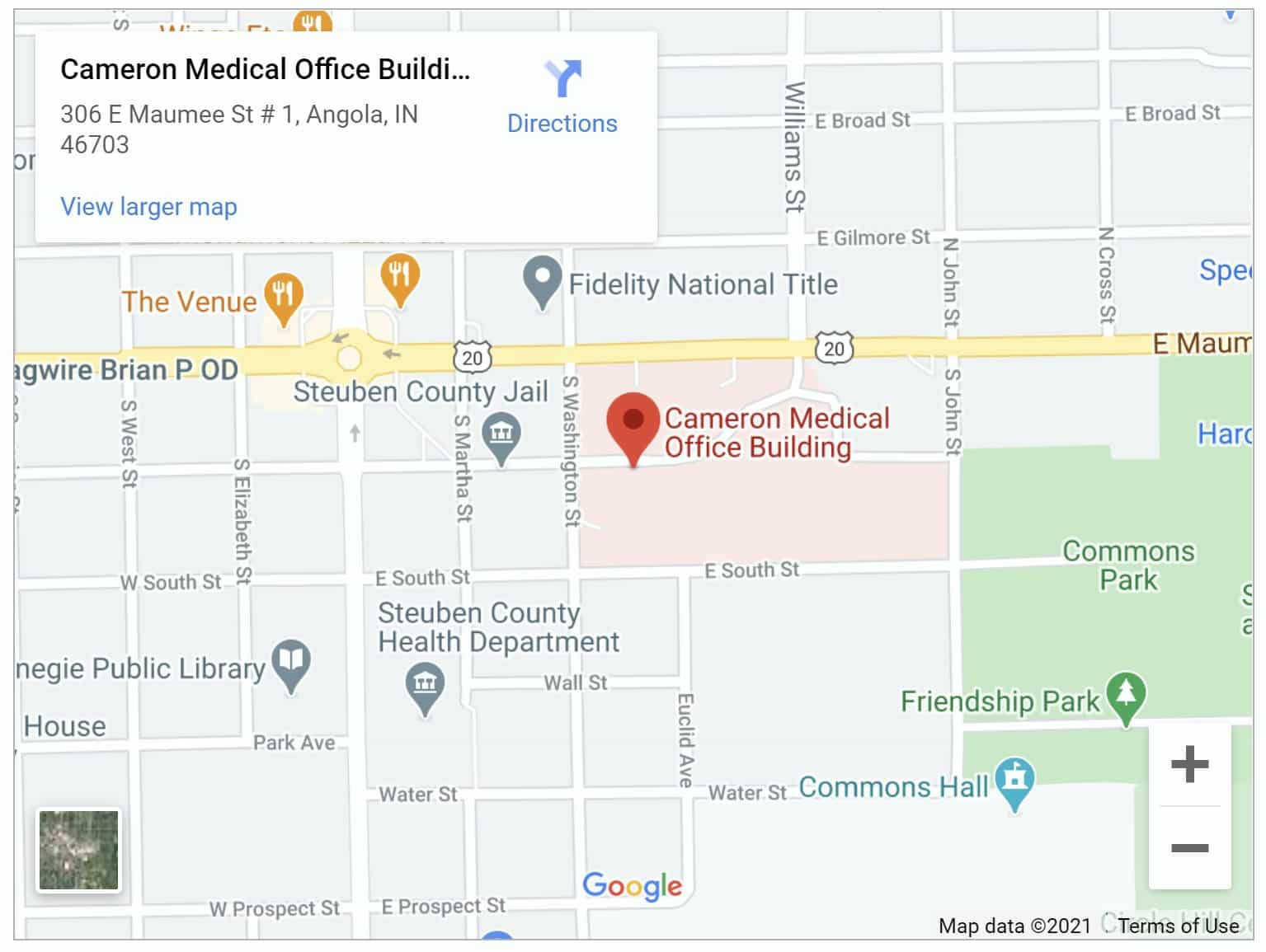 Cameron Medical Office Building map