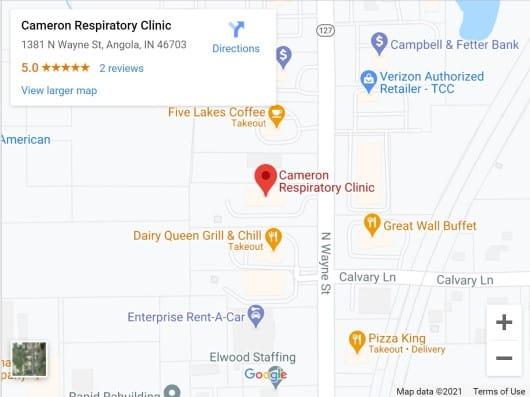 Cameron Respiratory Clinic map